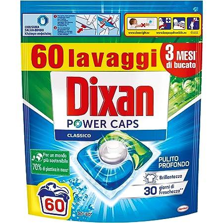 Dixan PowerCaps, Detersivo Lavatrice Capsule, 60 lavaggi - 900 g