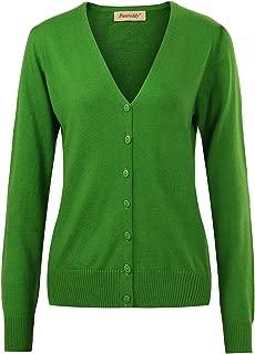 Women's Wool Cashmere Classic Cardigan Sweater