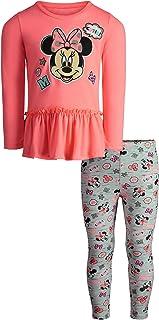 Disney Girls' Minnie Mouse Long-Sleeve Fashion Shirt & Legging Outfit Set