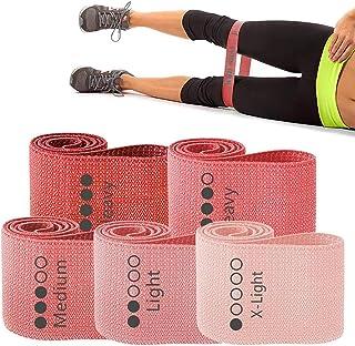 WODSKAI Motståndskband för ben och rumpträning, halkfria elastiska booty träningsband, kvinnor/män stretch träningsslingor...