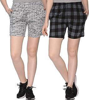 SHAUN Women's Cotton Shorts (Pack of 2)