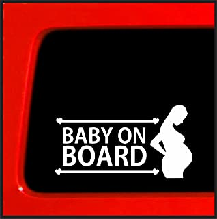 pregnant mom on board sticker