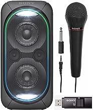 Sony GTKXB60/B High Power Portable Bluetooth Speaker with Sony FV100 Mic & Sony 16GB Micro Vault USM-X USB Drive