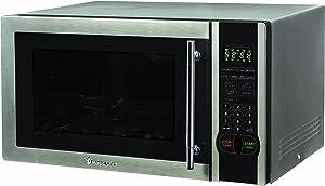 Magic Chef 1.1 Cu. Ft. 1000W Countertop Microwave Oven with Stylish Door Handle, Black