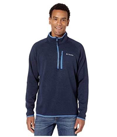 Columbia Canyon Pointtm Sweater Fleece 1/2 Zip (Collegiate Navy/Scout Blue) Men