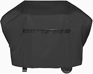 iCOVER Grill Cover- 70 Inch 600D Heavy-Duty Water Proof Patio Outdoor Black Canvas BBQ Barbecue Smoker Grill Cover G21606 for Weber Char-Broil Brinkmann Holland and JennAir