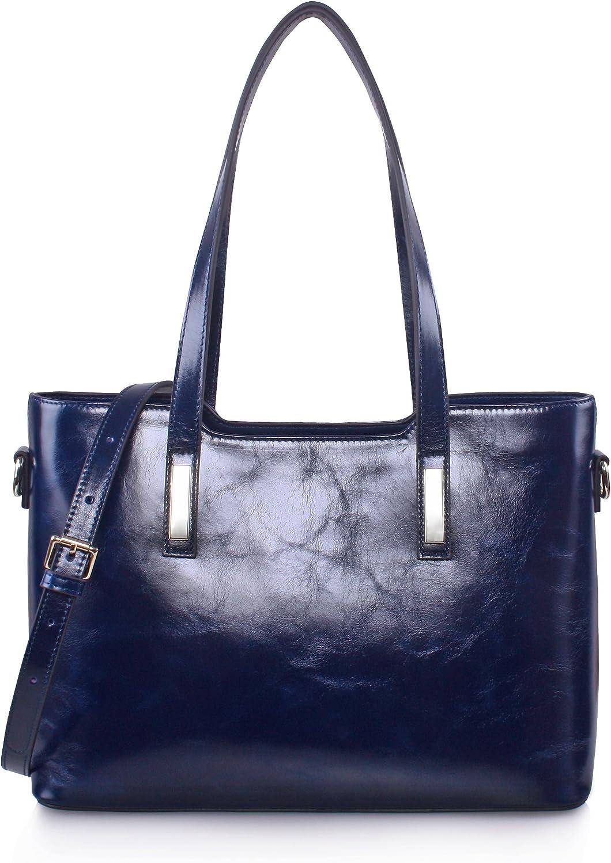 Yafeige Women's Handbags Vintage Genuine Leather Shoulder Bags Tote Cross Body Bags Purse for Ladies