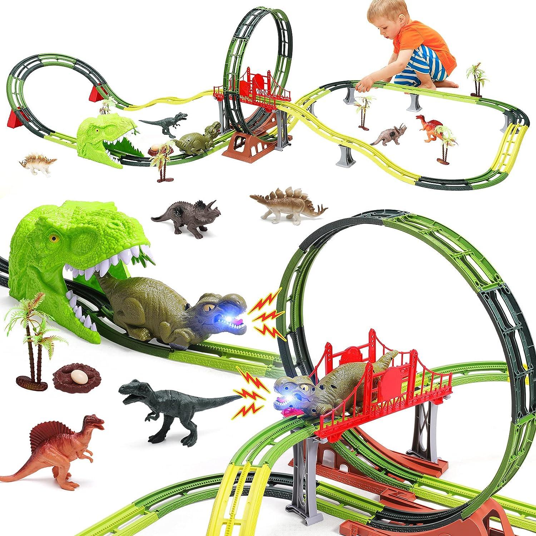 Dinosaur Toys Race Max 88% OFF Track Set Flexible Tracks Dino A Creat Train Limited price