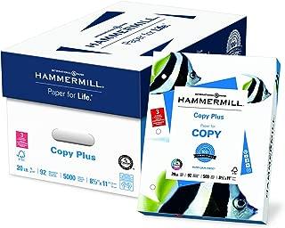 Hammermill Paper, Copy Plus Paper, 8.5 x 11 Paper, Letter Size, 20lb Paper, 92 Bright, 10 Reams / 5,000 Sheets (105007C) Acid Free Paper