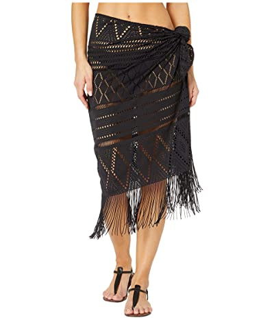Bleu Rod Beattie On the Fringe Crochet Pareo Cover-Up (Black) Women