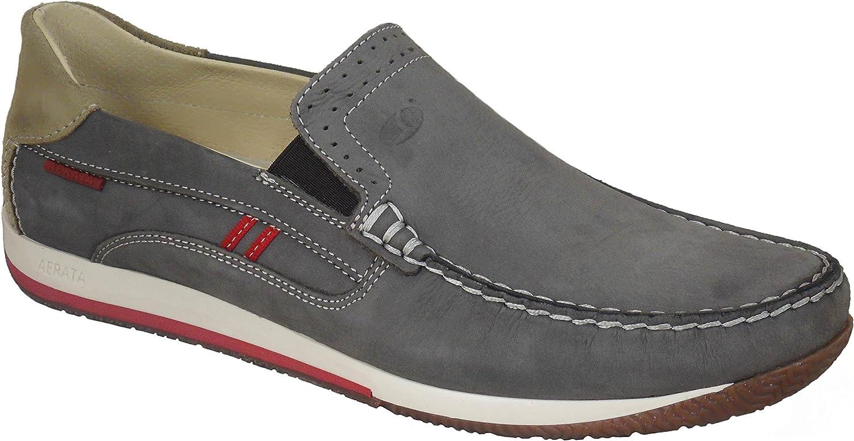 greyport Mens Aerata Light Step Quality Leather Deck shoes