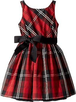 Belted Pleated Georgette Dress (Little Kids)