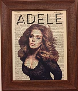 Ready Prints Adele Music Singer Dictionary Book Page Artwork Print Picture Poster Home Office Bedroom Nursery Kitchen Wall Decor - unframed
