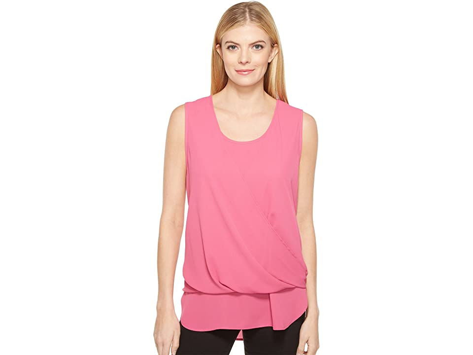 Karen Kane Drape Front Layered Top (Pink) Women