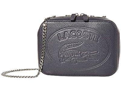 Lacoste Croco Crew Crossover Bag (Peacoat Blue) Cross Body Handbags