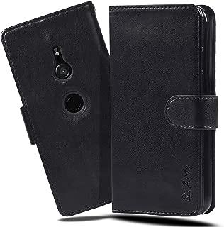 Xperia XZ3 ケース 手帳型 スマホケース 横置き機能 XZ3 ケース Arae カードポケット付き ソニー エクスペリア XZ3 docomo SO-01L / au SOV39 / SoftBank 801SO 対応用 財布型 ケース カバー (ブラック)