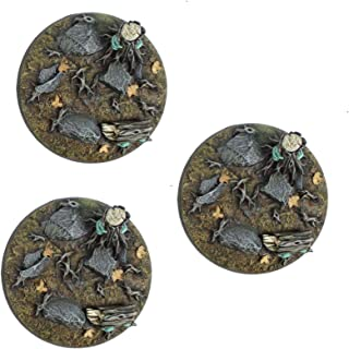 War World Gaming Fantasy Forest Resin Bases – Set of 3 Round 50mm Bases for 20-28mm Scale Miniatures
