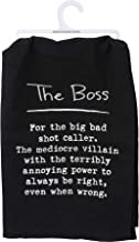 Primitives by Kathy Kitchen Embroidered Dish Towel - Definition: The Boss