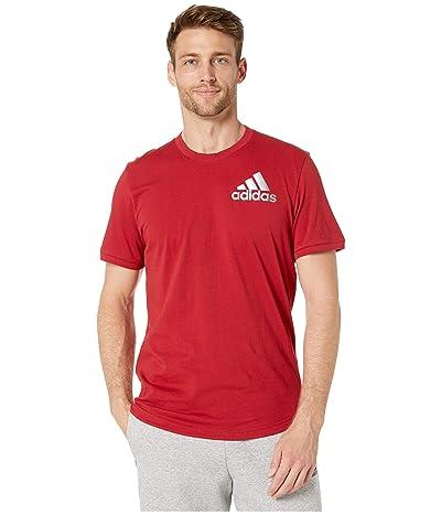 adidas Sport ID Metallic Tee (Active Maroon) Men