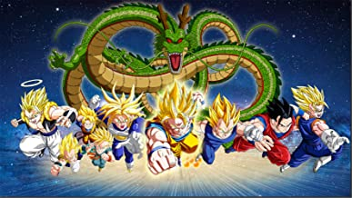 Photography Background Table Top 7x5ft Photo Backdrop Newborn Dragon Ball z Backdrop Party Supplies Customized Name Happy Birthday Polyester Backgrounds for Kids