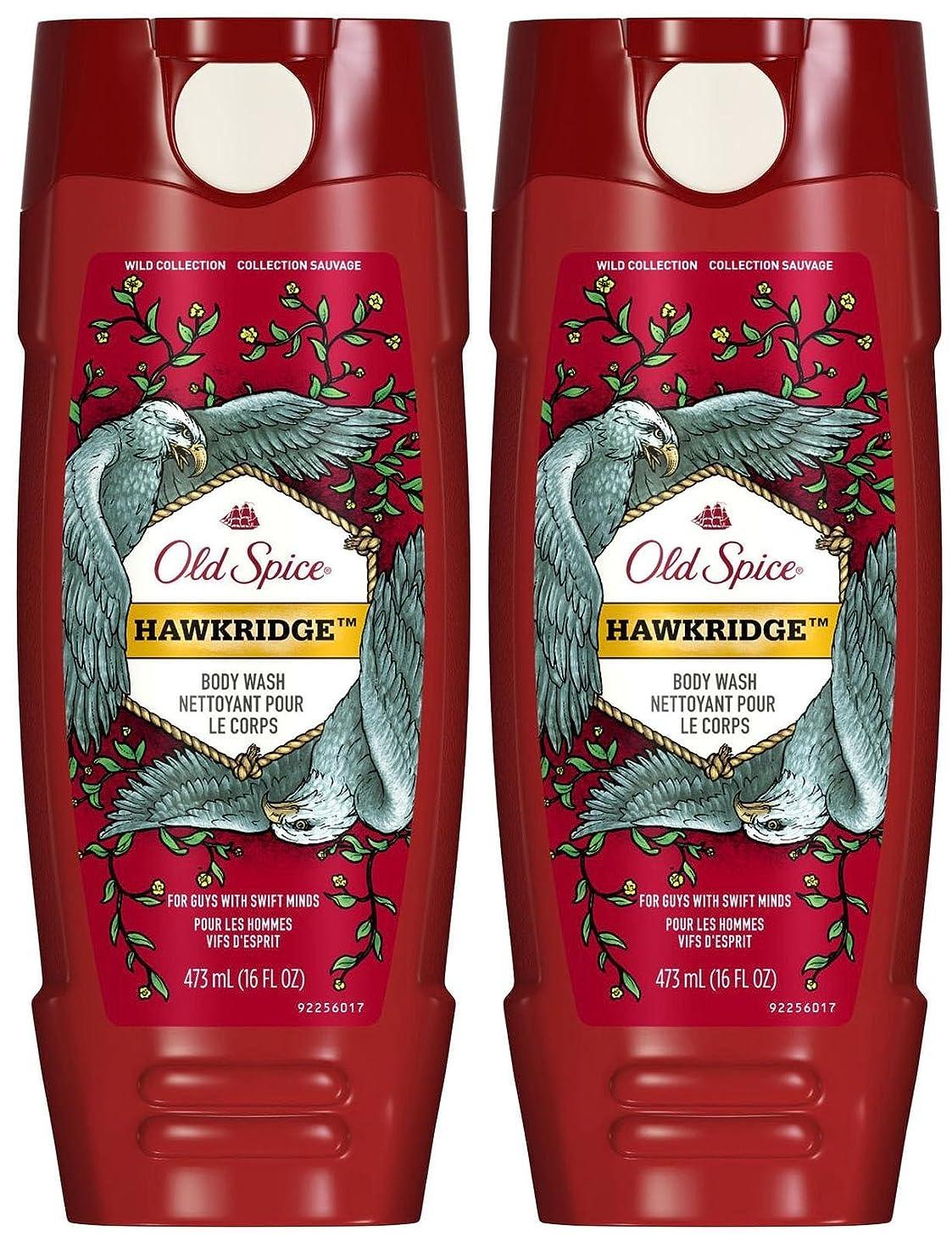 前進キー精神医学Old Spice ワイルドボディウォッシュ - Hawkridge - 16オズ - 2 Pkを