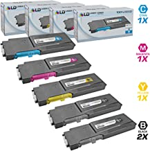 LD Compatible Toner Cartridge Replacement for Xerox Phaser 6600 & WorkCentre 6605 High Yield (2 Black, 1 Cyan, 1 Magenta, 1 Yellow, 5-Pack)