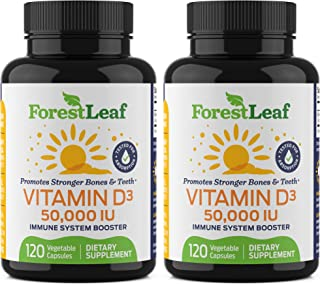 Sponsored Ad - Vitamin D3 50,000 IU Weekly Supplement - 240 Vegetable Capsules - For Bones, Teeth, Immune System and Muscl...