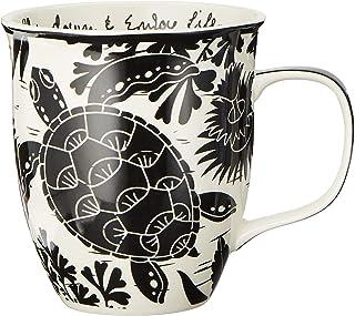 Karma Gifts Black and White Mug, 1 EA, Sea Turtle