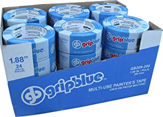 GripBlue 2 Inch Multi-Use Blue Painters Tape | Multi-Use Safe-Release Premium Crepe Paper Masking Tape for Multi-Surfaces ...