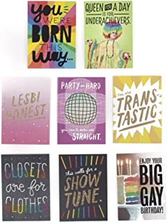 Hallmark Studio Ink LGBT Greeting Card Assortment (8 Cards, 8 Envelopes)