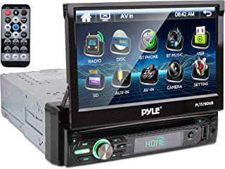 "Pyle Single DIN Head Unit Receiver - In-Dash Car Stereo with 7"" Multi-Color Touchscreen Display - Audio Video System with ..."