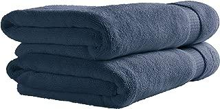 Rivet HygroCotton Cotton Bath Towels, Set of 2, Ocean Blue