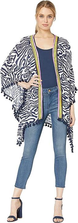 Zebra Kimono Cover-Up