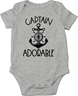 AW Fashions Captain Adorable - Daddy's Little Sailor - My Ship Don't Stink - Cute One-Piece Infant Baby Bodysuit