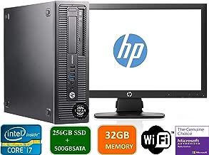 HP Prodesk 600 G1 SFF Slim Business Desktop Computer, Intel I7-4770 3.40 GHz, 32GB RAM, 256GB SSD + 500gb SATA Drive,with 22
