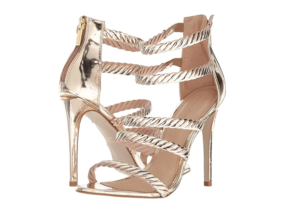 89d0ebce5af2 Massimo Matteo 5-Strap Open Toe (Light Gold) High Heels