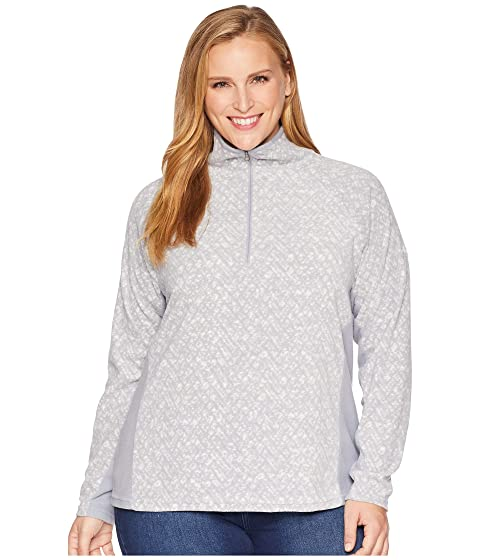 Plus Size Glacial™ Iv Print 1/2 Zip, Astral Tweed