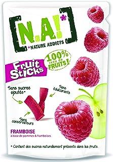 N.A! Nature Addicts - Sachet de Fruit Sticks Framboise 40g - 100% Issu de Fruits - Sans Sucres Ajoutés, Sans Édulcorants n...