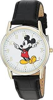 Women's 'Mickey Mouse' Quartz Metal Watch, Color:Black (Model: W002755)