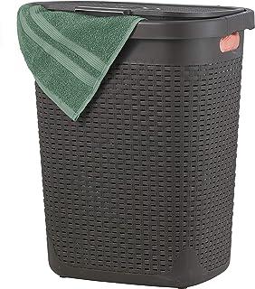 Superio Laundry Hamper(1.4 Bushel), Brown