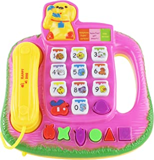 AJ Toys & Games Dog Themed Battery Operated Telephone, Phone for Kids, Children's Pretend Play Phonephone Colorful Assorted Colors!
