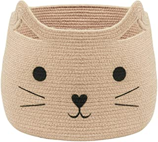 VK Living Blanket Basket Wicker Woven Storage with Handles Large Jute Organizer Cat Baskets for Baby Toys Laundry Clothes