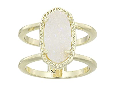 Kendra Scott Elyse Ring (Gold/Iridescent Drusy) Ring