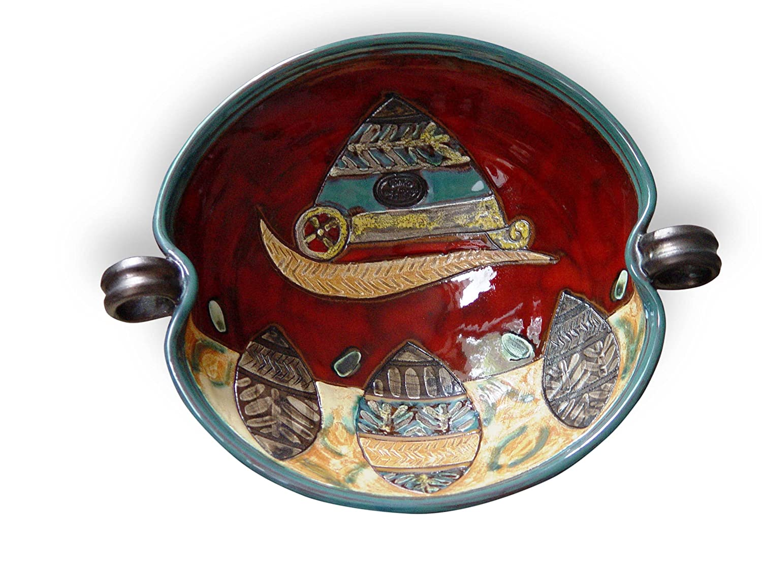 Unique Pottery Bowl - Selling and selling Hand Ceramic Gorgeous Painted Fruit Dish