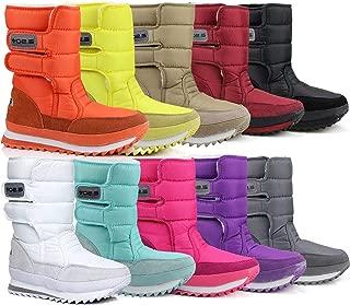 Stunner Women's Fashion Slip On Mid Calf Boots Waterproof Outdoor Snow Boots