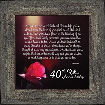 40th Wedding Anniversary Ruby Anniversary 10x10 6307B BOL Productions 6776 Personalized Ruby Wedding Anniversary Picture Frame
