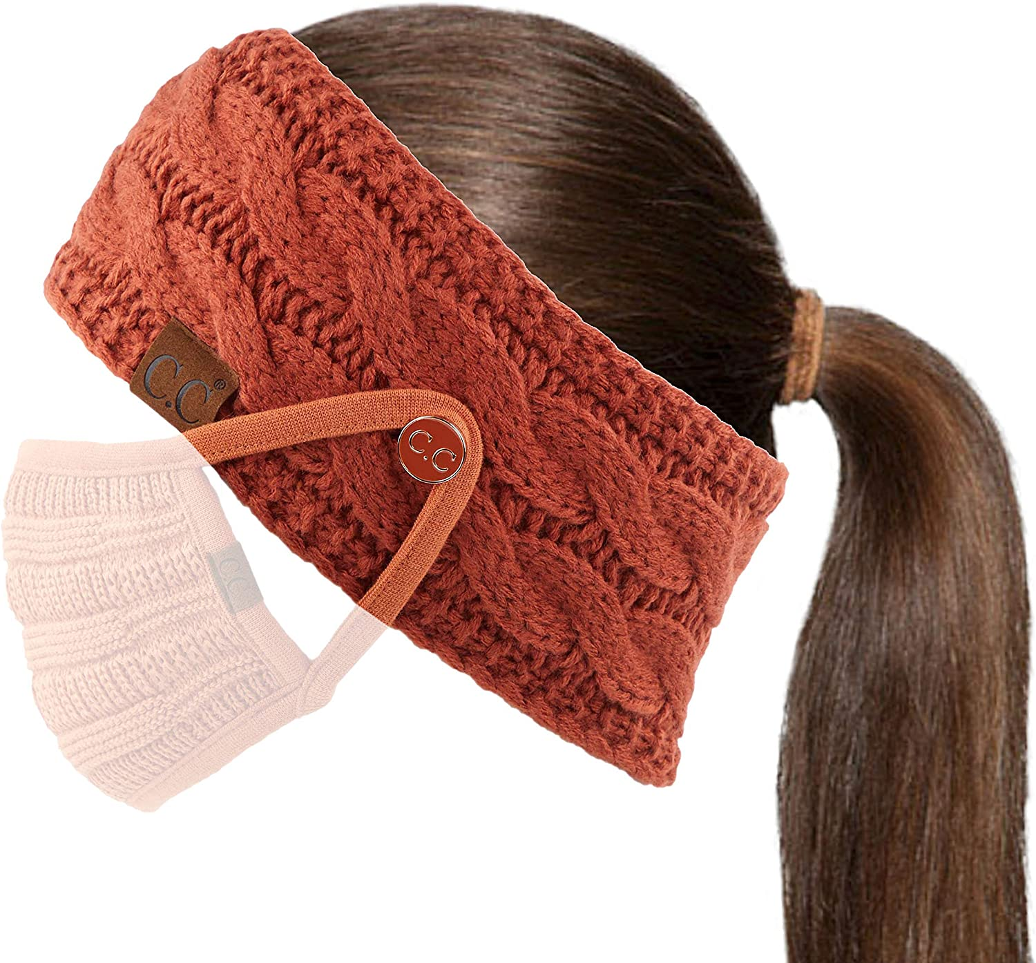 C.C Winter Fuzzy Fleece Lined Headband Ea Wholesale Knitted Headwrap Thick Max 83% OFF