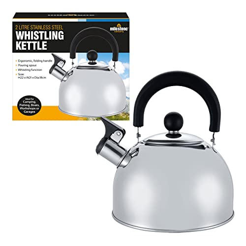 Whistling Kettle Stainless Steel Camping Fishing Kitchen Coffee Water Pot