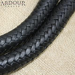 Ardour Crafts WP-118 Plait Genuine Leather Bull Whip Heavy Duty Bullwhip, Black
