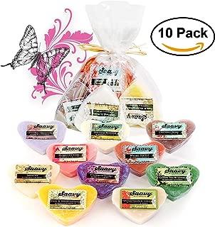 Saavy Naturals Organic Soap Bar | All-Natural Heart Shaped Handmade Hand & Body Wash Gift Set | 10 Pack 1.2oz